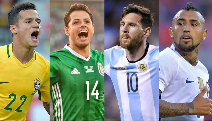 Top Five Teams in Copa América Centenario