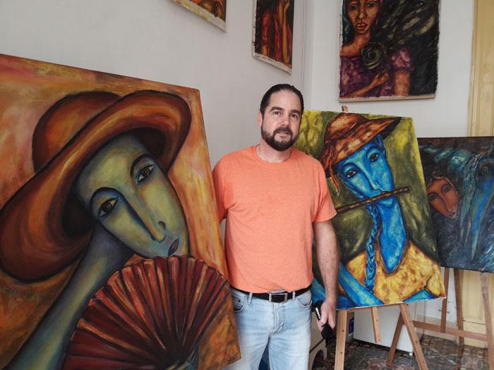 Painter Inti Álvarez Hauville