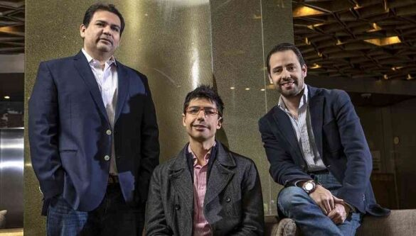 Juan Cubillos, José Vicente Mogollón, y Santiago Robayo, cofundadores de una de las startups colombianas más interesantes: Nidoo. Foto: Dinero.