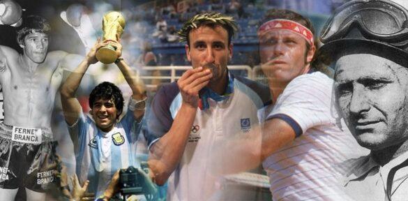Monzón, Maradona, Ginóbili, Vilas y Fangio se encuentran en las mayores leyendas del deporte argentino. Foto: La Nación.