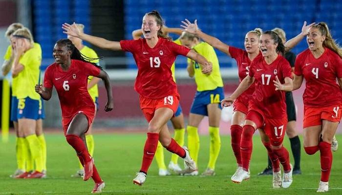El equipo femenino de fútbol de Canadá hizo historia en los Juegos Olímpicos Tokio 2020