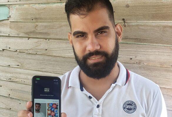 Camilo Noa, quien es el responsable de crecimiento de Slyk en Cuba y administra las redes sociales de la startup. Foto: Cortesía del emprendedor